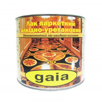Лак Gaia паркетный алкидно-уретановый 2кг фото, цена, купить Харьков