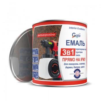 Грунт-эмаль Gaia 3 в 1 по ржавчине 0,9кг фото, цена, купить Харьков