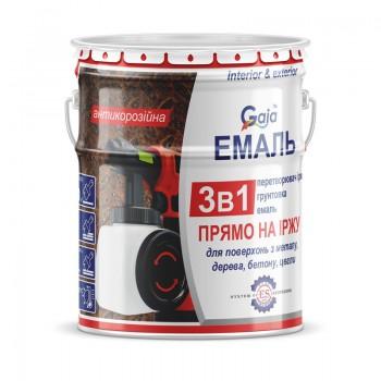 Грунт-эмаль Gaia 3 в 1 по ржавчине 2,5кг фото, цена, купить Харьков