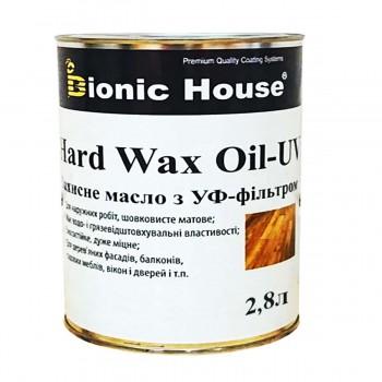 """Масло с твердым воском и УФ защитой  Bionic-House  """"Hard wax oil"""" 2.8 л фото, цена, купить Харьков"""