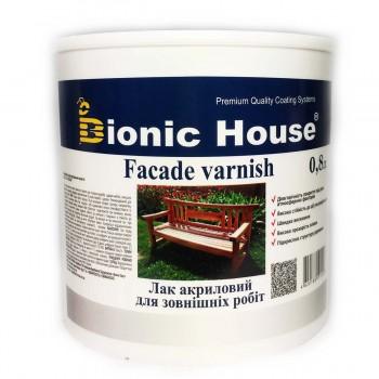 Лак для наружных работ Bionic-House (водорастворимый) 0,8л фото, цена, купить Харьков