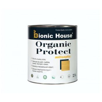 """Антисептик для дерева Bionic-House """"ORGANIC PROTECT"""" 2,8л фото, цена, купить Харьков"""