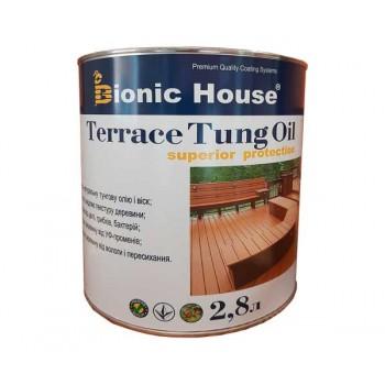 Масло террасное тунговое «Terrace Tung oil» Bionic House (Бионик Хаус) 2.8 л фото, цена, купить Харьков