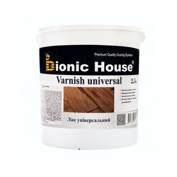 Лак Универсальный Bionic-House (Лак на основе акрил-стирольного сополимера) 2,5л фото, цена, купить Харьков